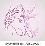 beauty woman | Shutterstock . vector #73528933