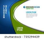 flyer or brochure template ... | Shutterstock .eps vector #735294439