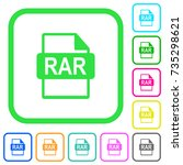 rar file format vivid colored... | Shutterstock .eps vector #735298621