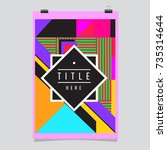 trendy geometric elements... | Shutterstock .eps vector #735314644