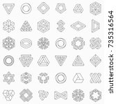 set of geometric elements ... | Shutterstock .eps vector #735316564