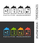 facilities management logo... | Shutterstock .eps vector #735322621