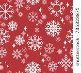 pattern seamless snowflake for...   Shutterstock .eps vector #735323875