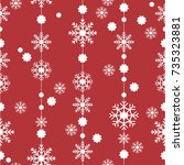 pattern seamless snowflake for... | Shutterstock .eps vector #735323881