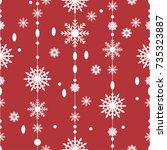 pattern seamless snowflake for... | Shutterstock .eps vector #735323887