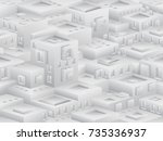 endless urban landscape of... | Shutterstock .eps vector #735336937