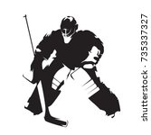 ice hockey goalie  abstract... | Shutterstock .eps vector #735337327