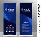 roll up business brochure flyer ...   Shutterstock .eps vector #735337705