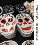 Small photo of Allusive dishes for celebrations of the day of the dead in Mexico (Dia de muertos)