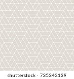 simple seamless geometric grid... | Shutterstock .eps vector #735342139