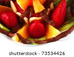 tropical raw fruits with in hot ... | Shutterstock . vector #73534426
