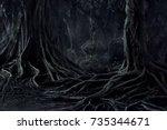 spooky halloween dead... | Shutterstock . vector #735344671