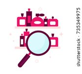 search engine icon for perfume...   Shutterstock .eps vector #735349975