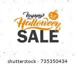 halloween sale vector banner... | Shutterstock .eps vector #735350434