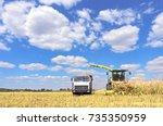 mikhailovka  ukraine   august... | Shutterstock . vector #735350959