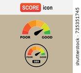 indicator score credit. credit... | Shutterstock .eps vector #735351745