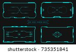 hud futuristic user screen... | Shutterstock .eps vector #735351841