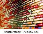 computer code data. website... | Shutterstock . vector #735357421