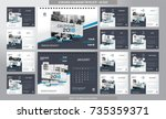 desk calendar 2018 template  ... | Shutterstock .eps vector #735359371