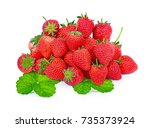 strawberry isolated on white... | Shutterstock . vector #735373924