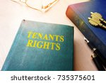 tenants rights and keys from... | Shutterstock . vector #735375601