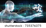 research and development in the ... | Shutterstock . vector #735376375