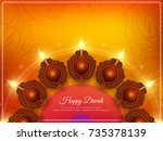 abstract happy diwali stylish... | Shutterstock .eps vector #735378139