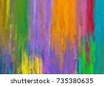 graphic illustration of color... | Shutterstock . vector #735380635