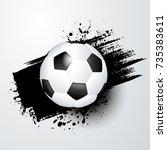 football world or european...   Shutterstock .eps vector #735383611