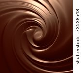 Chocolate swirl background. Clean, detailed melted choco mass. - stock photo