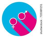 sex symbol sign. vector. flat... | Shutterstock .eps vector #735389251