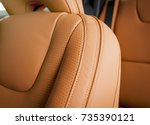 modern sport car  red sand... | Shutterstock . vector #735390121