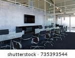 chairs and table in the... | Shutterstock . vector #735393544