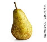 Small photo of Single abate fetel pear isolated on white.