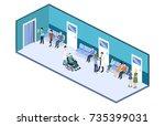 isometric 3d vector... | Shutterstock .eps vector #735399031