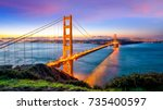 golden gate bridge in san... | Shutterstock . vector #735400597