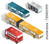 set of various passenger city...   Shutterstock .eps vector #735401995