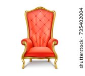 luxurious antiquarian red...