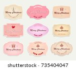 christmas label  label of... | Shutterstock .eps vector #735404047
