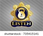gold shiny emblem with 4kg... | Shutterstock .eps vector #735415141
