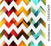 colored zigzag seamless pattern ...   Shutterstock .eps vector #735415609
