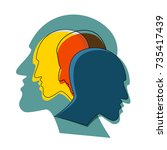 schizophrenia concept  symbol...   Shutterstock .eps vector #735417439