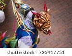 diablicos  the typical carnival ... | Shutterstock . vector #735417751