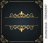 vintage wedding ornament frame... | Shutterstock .eps vector #735420547