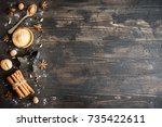 christmas spices and baking... | Shutterstock . vector #735422611