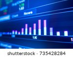 stock market graph analysis.... | Shutterstock . vector #735428284