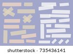 brown and white different size... | Shutterstock .eps vector #735436141
