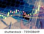 market cost economy analysis...   Shutterstock . vector #735438649