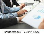 business people meeting... | Shutterstock . vector #735447229