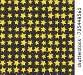 nice cartoon star pattern with...   Shutterstock .eps vector #735448561